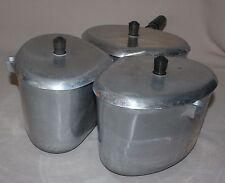 3 Vintage BestMade 2.5 Quart Triangle Pots Lids Handle Best Made Cooking Pans
