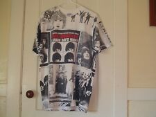 VINTAGE BEATLES ALL OVER PRINT  T-SHIRT 1994 LARGE OFFICAL APPLE INC AND SCARCE