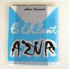 Collant  vintage - AZUR - Modèle Helanca - avec gousset  Taille 2 - France
