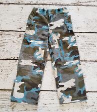MINI BODEN Boys Blue Green Camo Lined Skate Pants 5-6 5 6 VGUC