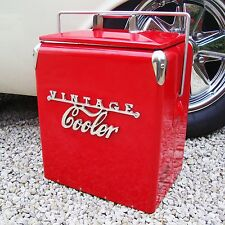 VINTAGE COOLER Coolbox RED Retro coca cola Coke Cool box vw wedding present