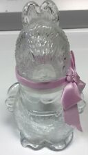 Easter Bunny / Peter Rabbit Glass Candy Jar / Container 5� Nice