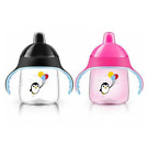 Philips Avent My Penguin Sippy Cups 9 oz SCF753/27 - Pink/Black