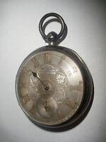 Antique early 1800s John Forrest English sterling silver pocket watch key wind