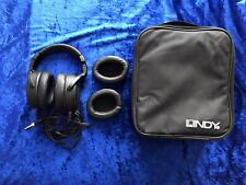 Lindy HF-100 Premium Used Hi-Fi Noise Cancelling Headphones With Carrying Case