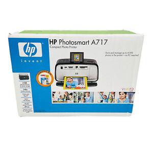 HP Photosmart A717-Compact Digital Inkjet-Photos Up 5x7 Printer New SEALED