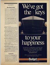 Budget Rent a Car - Rolls Royce 1979 Print Ad