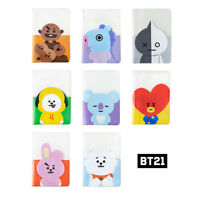 BT21 Official Authentic Goods Passport Holder Cover KPOP CHIMMY KOYA COOKY Etc