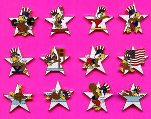 1984 OLYMPIC PIN SAM WHITE STAR PINS LOT #1 PICK A PIN 1-2 BUY ALL 12 LARGE PINS