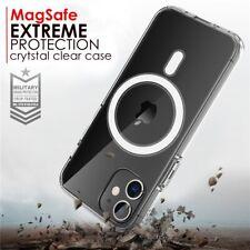 Magsafe magnético caso claro para iPhone 12 Pro Max Mini, iPhone 11 a prueba de choques