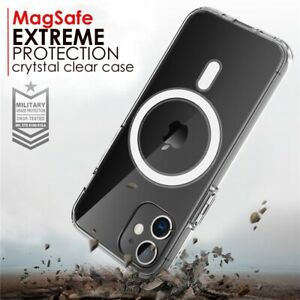 MagSafe Magnetic Clear Case for iPhone 12 Pro Max Mini, iPhone 11 Shockproof