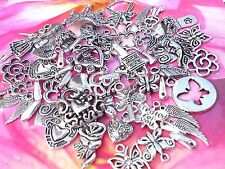 50 Nice Mix Silver Fairy, Butterfly,Flower, Wings Key  Charms *To Clear *New!