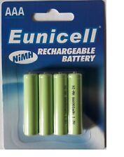 ENVOI AVEC SUIVI - EUNICELL 4  piles rechargeables AAA - LR03  1,2 volt 900 mAh