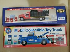 1995 & 1996 Mobil Collectible Toy Trucks With Working Head & Tail Lights