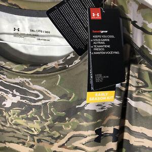 New Under Armour Mens UA Early Season Kit Real Tree Camo Heatgear Shirt Sz 3XL