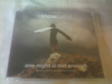 SNOW PATROL - ONE NIGHT IS NOT ENOUGH - PROMO CD SINGLE