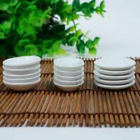 5x  Miniature White Porcelain Dish Plate FOR 1/12 Dolls House Ceramics nice