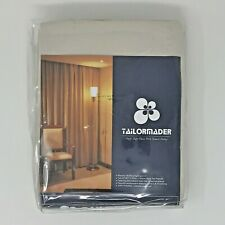 Tailormader 2 Piece Top Thermal Insulated Blackout Curtain Heavy Duty Fabric