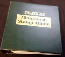 SCOTTMinuteman 3-Ring Stamp Album w/21st century album pgs. 2000-10 completeNEW#