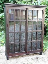 Edwardian Style Mission Arts & Crafts large Double door tall Bookcase cabinet