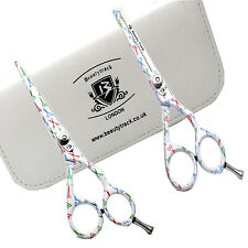 New Professional Barber Hair Cutting Thinning Scissors White Scissor Print 5.5""