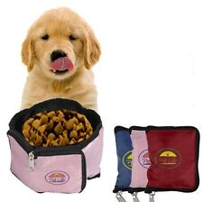 Portable Wallet Waterproof Travel Collapsible Folding Pet Dog Bowl Feeder