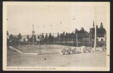 Postcard CACOUNA Quebec/CANADA  Tourist Area Tennis Courts view 1920's