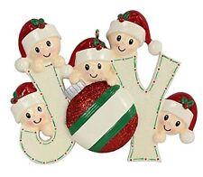 MAXORA Personalized Christmas Tree Decoration Ornaments Joy Family of 5 Members
