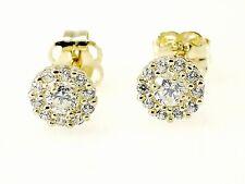 333 Gold Ohrstecker 1 Paar rund  mit  Zirkonia Steinen Ohrringe