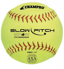 "Champro 11"" ASA .44 COR  .375 Lbs. Slowpitch Softball (Dozen)"