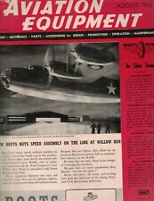 Aviation Equipment Magazine August 1942 Parts Tools Accessories Maintenance