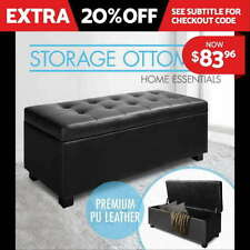 Black Ottomans, Footstools & Poufs