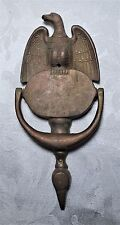 Vintage Eagle Door Knocker Brass Rustic Farmhouse Country Federal American Decor