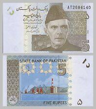Pakistan 5 Rupees 2008 p53a unz.