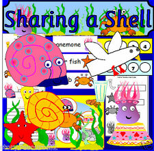 SHARING A SHELL Seaside Under the Sea Story sack cd teaching resources EYFS KS1