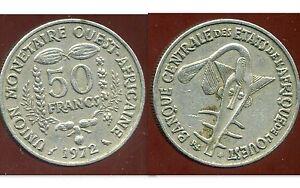 ETATS DE L'AFRIQUE DE L'OUEST  50 francs  1972  ( bis )