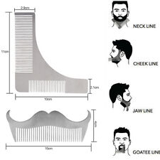 2 PCS Stainless Steel Beard Shaving Comb Mustache Modeling Template Shaping Tool