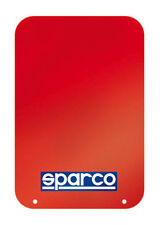 Sparco Universal Mud Flaps Red with Blue/White Logo Set of 4 Car/Truck/SUV NEW