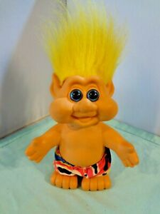 """Vintage Troll - 7"""" High with Swim trunks - Dated 1991 - I.T.S. - Yellow Hair"""