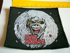 IRON MAIDEN – very rare old original 80s EDDIE HEAD, UNCUT Patch!!!
