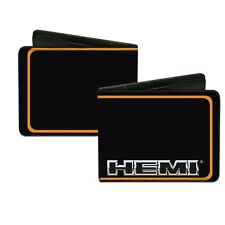Wallet HEMI Text Orange Trim Black HEG