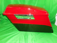 NEW DISPLAY HARLEY LEFT HARD SHELL SADDLEBAG OEM FLHTK CHERRY RED 90104-11DHY