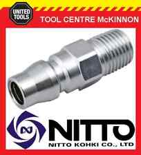 """NITTO MALE COUPLING AIR FITTING WITH 1/4"""" BSP MALE THREAD (20PM) – JAPAN MADE"""