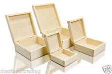 Grand lot de 4 naturel plain boîtes de rangement decoupis collection de bijoux