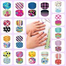 Jamberry Juniors Nail Wraps Pieces Lot 40 Mix Wraps/Samples Accent Nails Kids