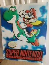 Nintendo entertainment system mario vintage style display store sign