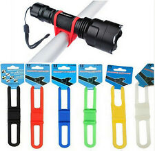Bike Light Holder Bicycle Handlebar Silicone Strap Band Phone Fixing elastic tie