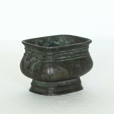 A Chinese Antique Bronze Footed Censer