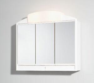 Jokey Spiegelschrank Rano Weiß mit Beleuchtung Aliber Badspiegel Spiegel
