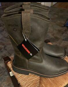 Wolverine Ranchero Steel Toe Brown PO Square Toe Boots!(8)
